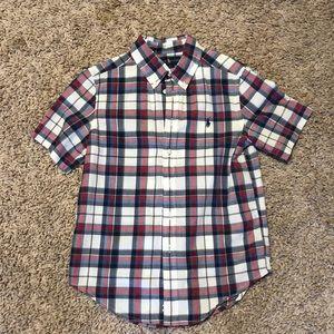 Boys short sleeve RL button up shirt